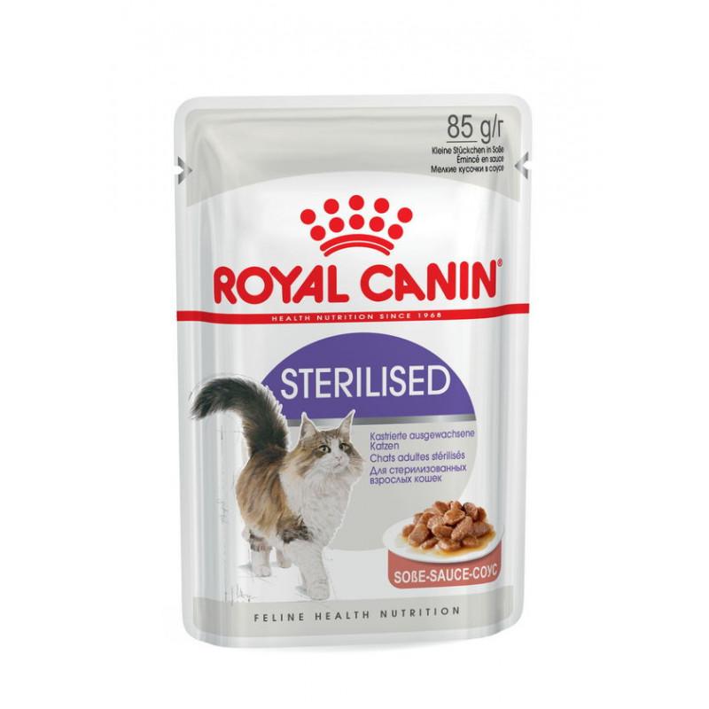 Royal Canin (Роял Канин) Sterilised - Консервированный корм для взрослых стерилизованных кошек (кусочки в соусе)