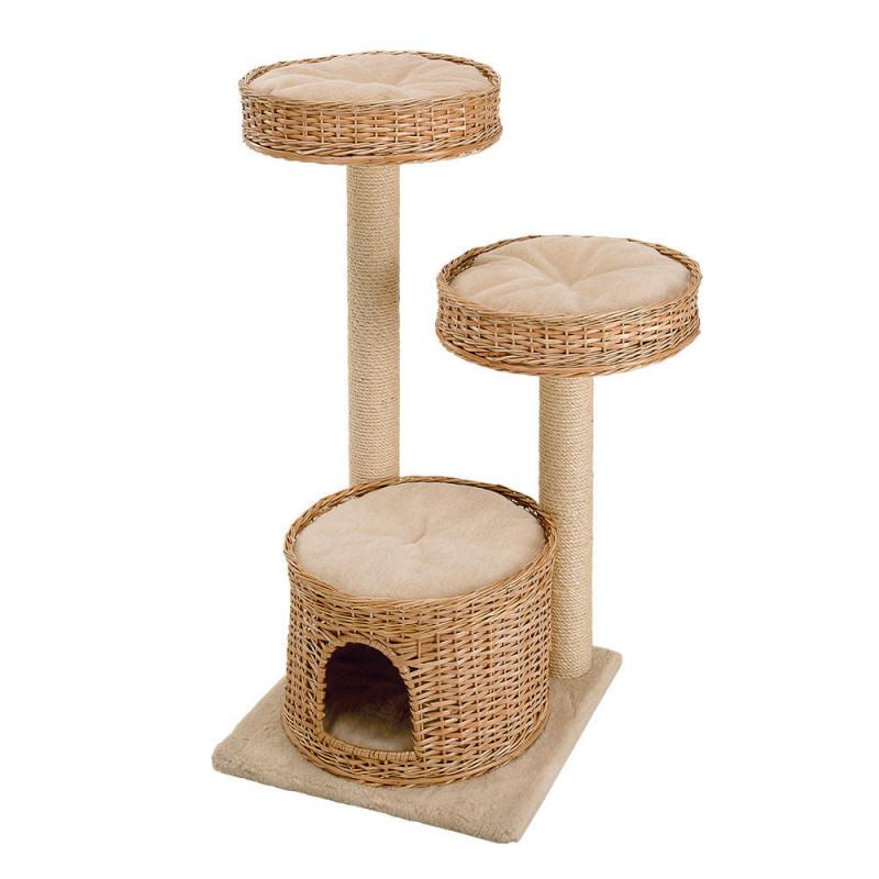 Ferplast (Ферпласт) Amir - Игровой комплекс для кошек с полочками спальным местом и колонами