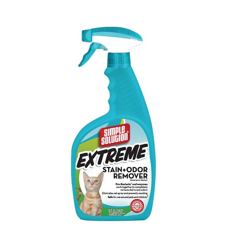 Extreme Cat stain and odor remover концентрированное жидкое средство от запаха и пятен жизнедеятельности животных