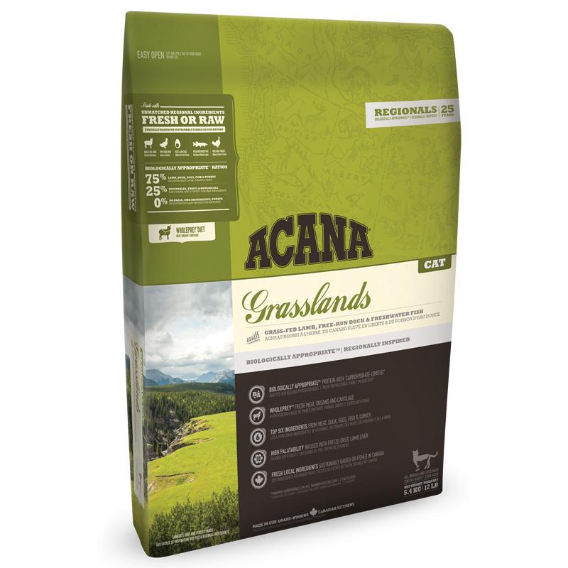 Acana (Акана) Grasslands for Cat - Сухой корм с ягненком и уткой для котят и кошек