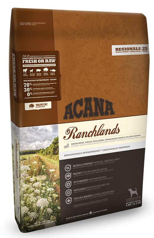 Acana (Акана) Ranchlands - Сухой корм с красным мясом и рыбой для собак различных пород на всех стадиях жизни - Фото 2