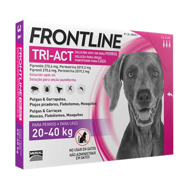 Frontline Tri-Act (Фронтлайн Три-Акт) by Merial. Противопаразитарный препарат от блох, вшей, клещей и комаров для собак - Фото 3