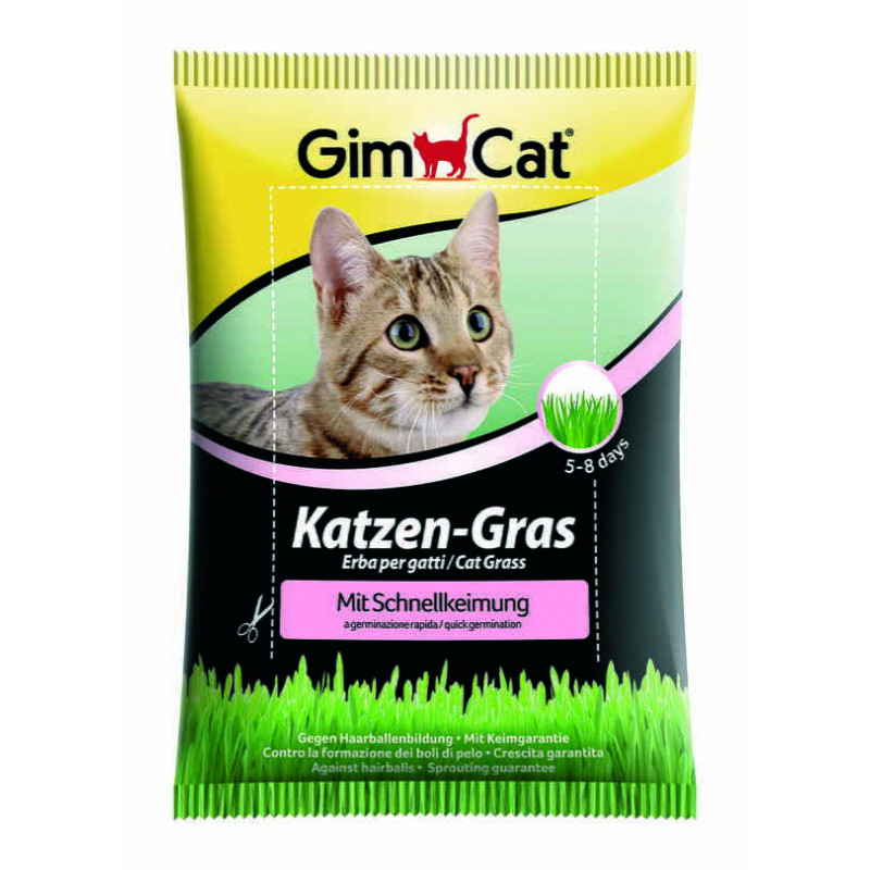 GimСat (ДжимКэт) Katzen-Gras. Быстропрорастающая травка для кошек