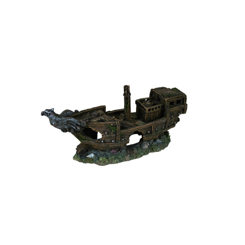 Trixie (Трикси) Decoration Shipwreck - Затонувший корабль для декора аквариума, 32 см