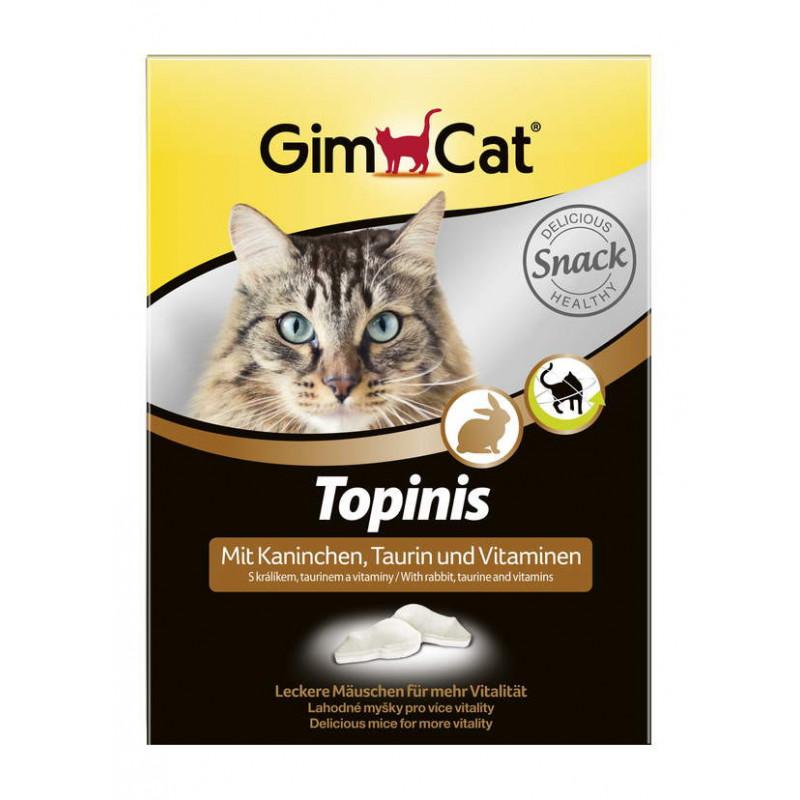 GimCat (ДжимКэт) Topinis - Витаминные мышки с кроликом для улучшения пищеварения для котов и кошек