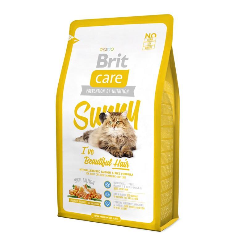 Brit Care (Брит Кеа) Sunny - Сухой корм с лососем и рисом для кошек, здоровье кожи и красота шерсти