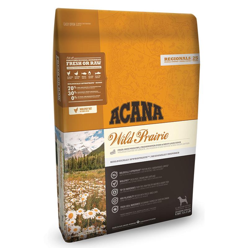 Acana (Акана) Wild Prairie - Сухой корм с мясом цыплят и индейки для собак всех пород и всех станций жизни