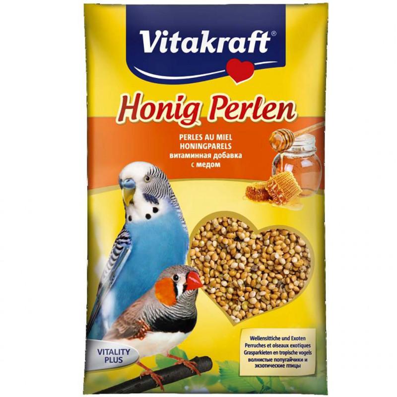 Витаминная добавка VITACRAFT HONIG PERLEN для волнистых попугаев с мёдом