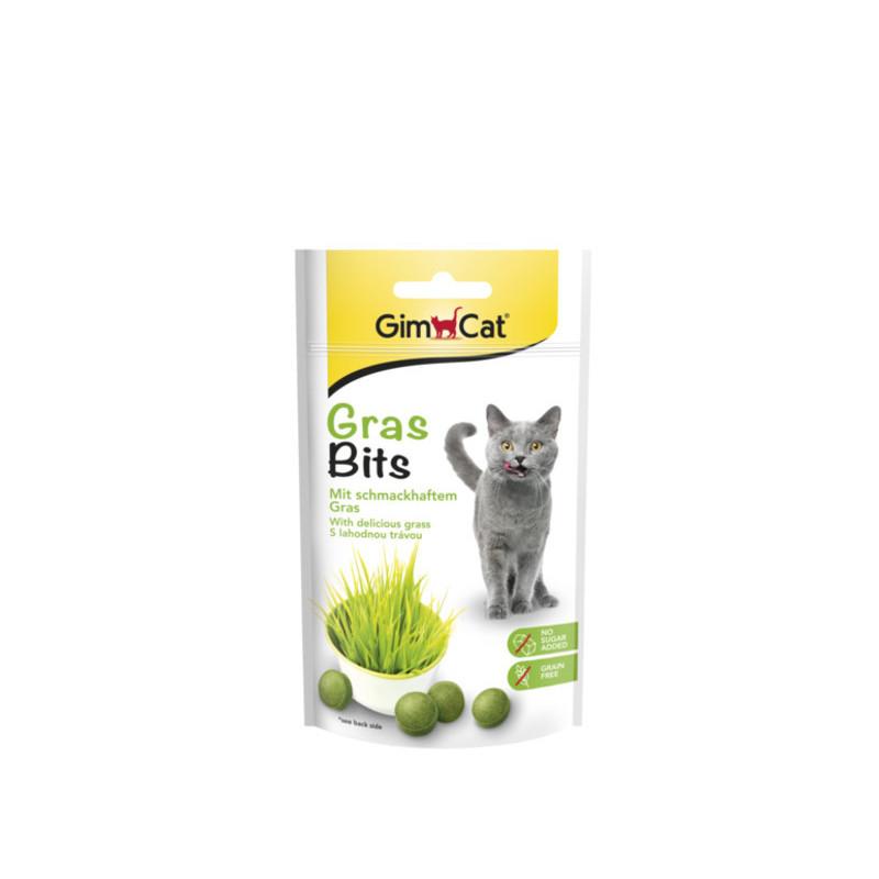 GimСat (ДжимКэт) GrasBits. Витаминизированное лакомство с травой для кошек
