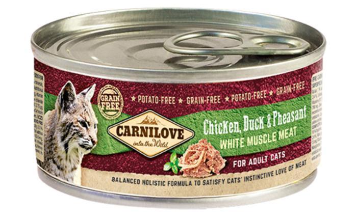 Влажный корм Carnilove (Карнилав) Cat Chicken, Duck & Pheasant с мясом курицы, утки и фазана
