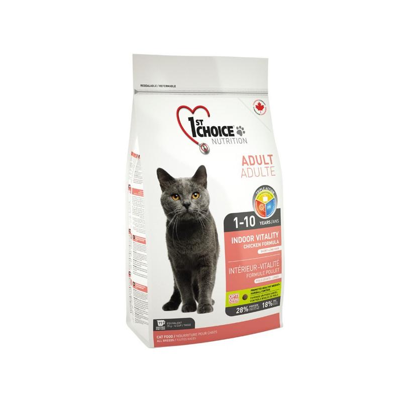 1st Choice (Фест Чойс) Vitality Indoor - Сухой корм с курицей для взрослых котов