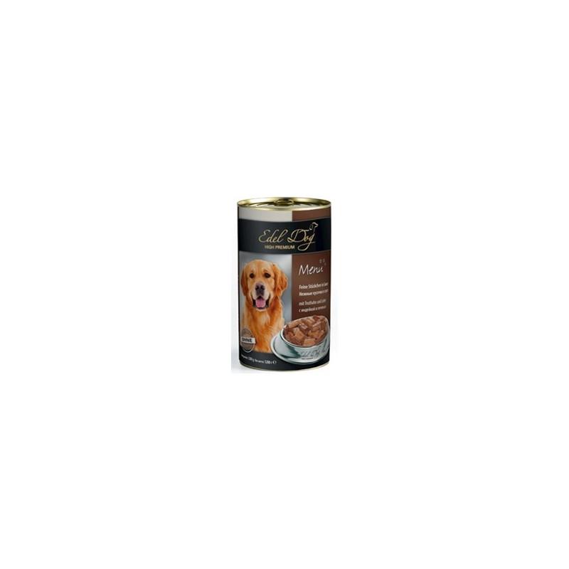 Влажный корм Edel Dog для собак с индейкой и печенью
