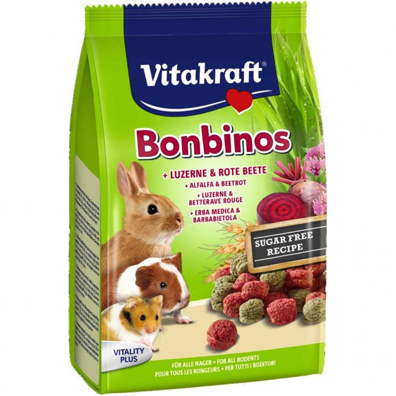 Лакомство VITACRAFT BonBinos для всех видов грызунов с свёклой
