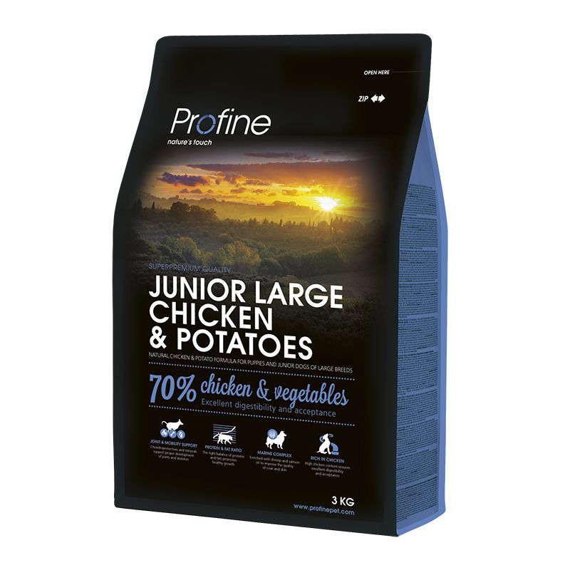 Profine (Профайн) Junior Large Breed Chicken&Potatoes - Сухой корм для молодых собак крупных пород с курицей и картофелем