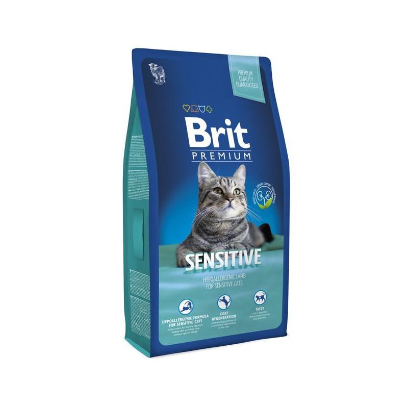 Brit Premium (Брит Премиум) Cat Sensitive - Сухой корм с ягненком для кошек с чувствительным пищеварением