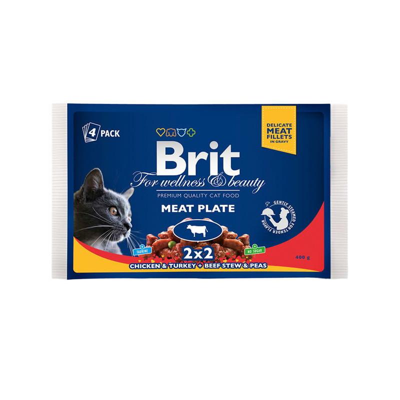 Brit Premium (Брит Премиум) Cat Meat Plate - Набор паучей