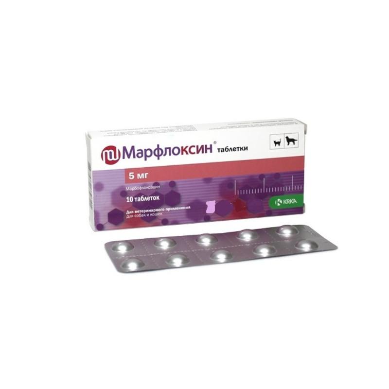 Марфлоксин - Антибактериальные таблетки для собак и кошек
