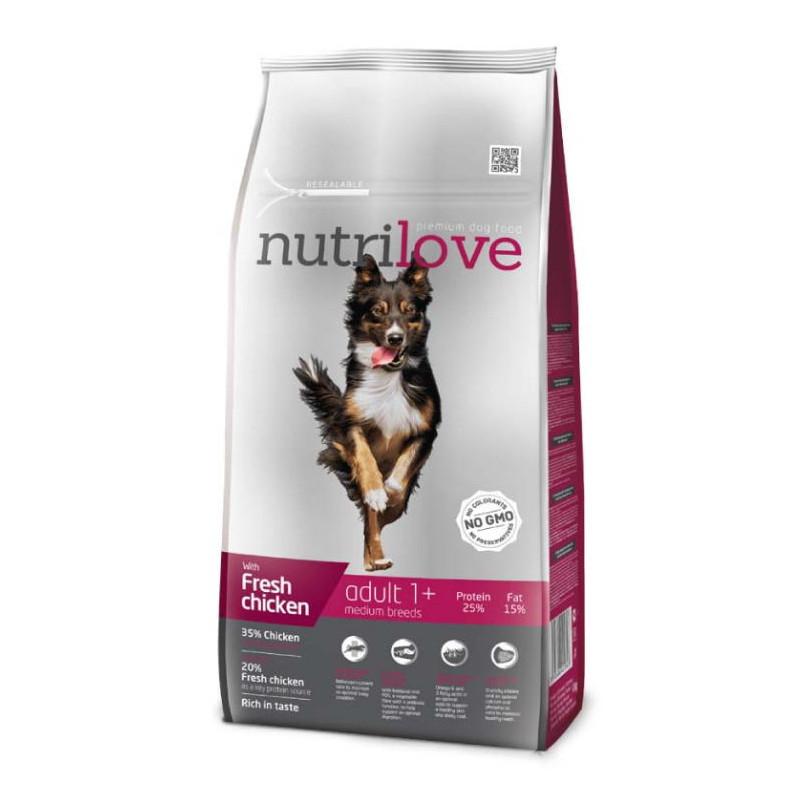 Nutrilove (Нутрилав ) Adult Medium Breeds - Корм для взрослых собак средних пород с курицей и рисом