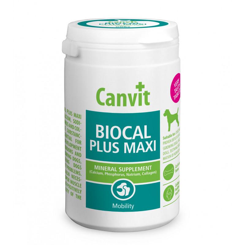 Canvit Biocal Plus Maxi - минералы плюс коллаген, для поддержки связок и суставов у собак