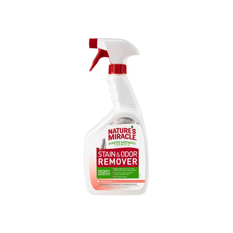 Nature's Miracle  (Нейчерс Миракл) Stain&Odor Destroyer Универсальный уничтожитель пятен и запахов от кошек (c ароматом дыни)