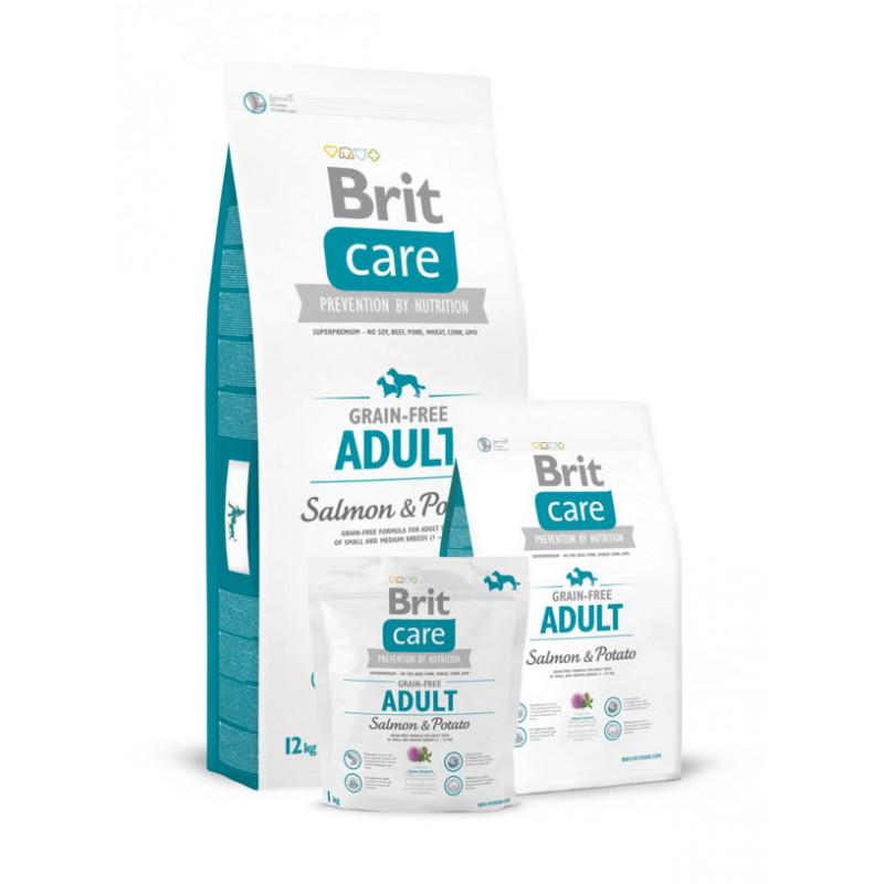 Brit Care (Брит Кеа) Grain-free ADULT  Salmon & Potato (д/собак весом до 25 кг)