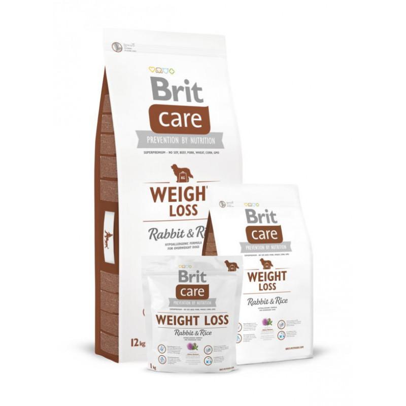 Brit Care  (Брит Кеа) WEIGHT LOSS корм для собак с избыточным весом (кролик/рис)