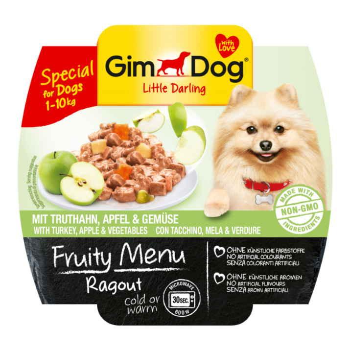 GimDog LITTLE DARLINGD Fruity Menu  рагу с индейкой, ягодами и овощами для собак мелких пород