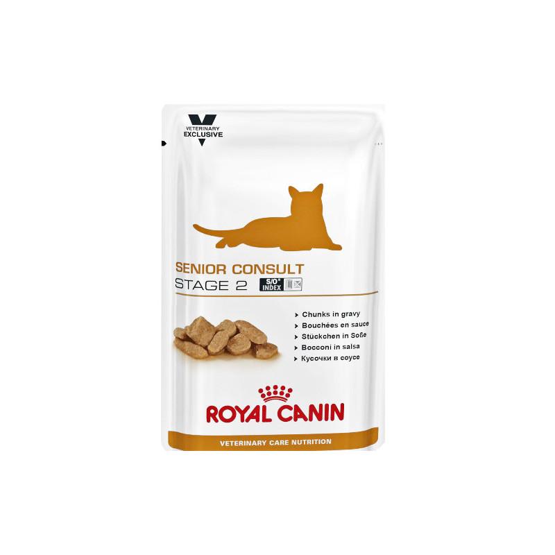 Ветеринарная диета кусочки в соусе ROYAL CANIN SENIOR CONSULT STAGE 2 для пожилых кошек