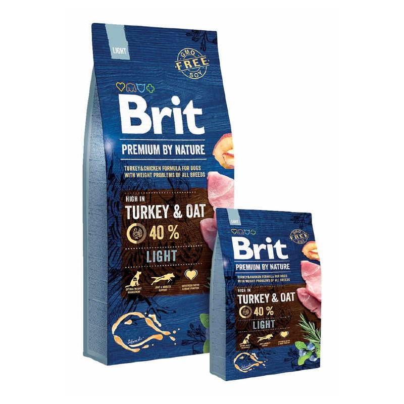 Brit Premium (Брит Премиум) by Nature Light Turkey&Oats - Сухой корм с индейкой для собак с избыточным весом