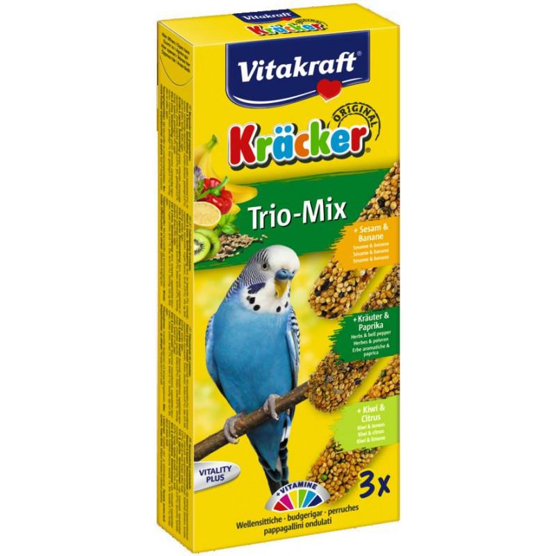 Крекер VITACRAFT TRIO MIX для волнистых попугаев с инжиром паприкой и киви