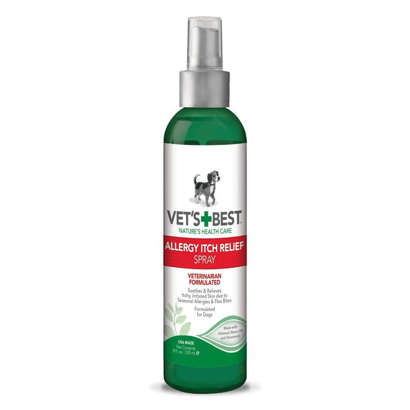 VET`S BEST (Ветс Бест) Allergy Itch Relief Spray Спрей для собак при аллергии, для чувствительной кожи