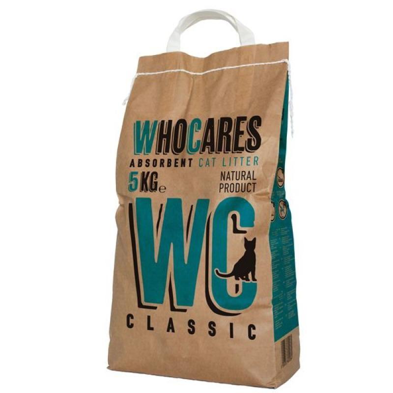 WhoCares (Ху Кеа) WC Classic - Наполнитель впитывающий в кошачий туалет, без запаха