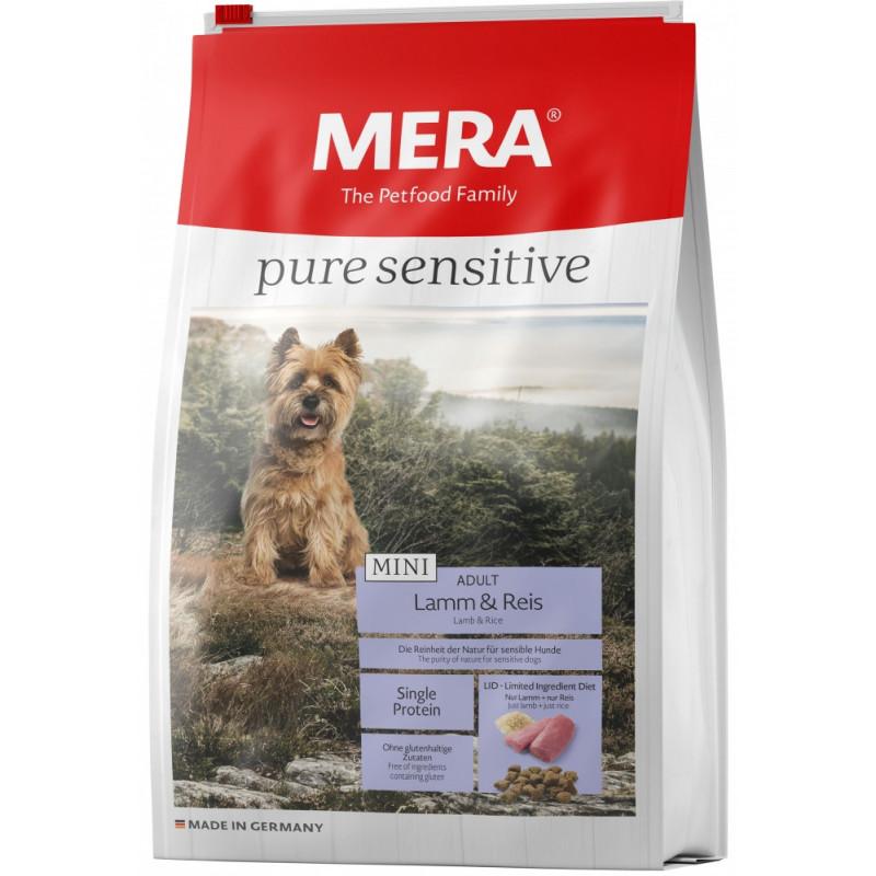 Сухой корм Meradog Pure Mini Adult для взрослых собак-аллергиков мелких пород с ягненком и рисом