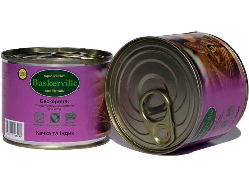 Baskerville (Баскервиль) - Консервы для котов с уткой и индейкой - Фото 3