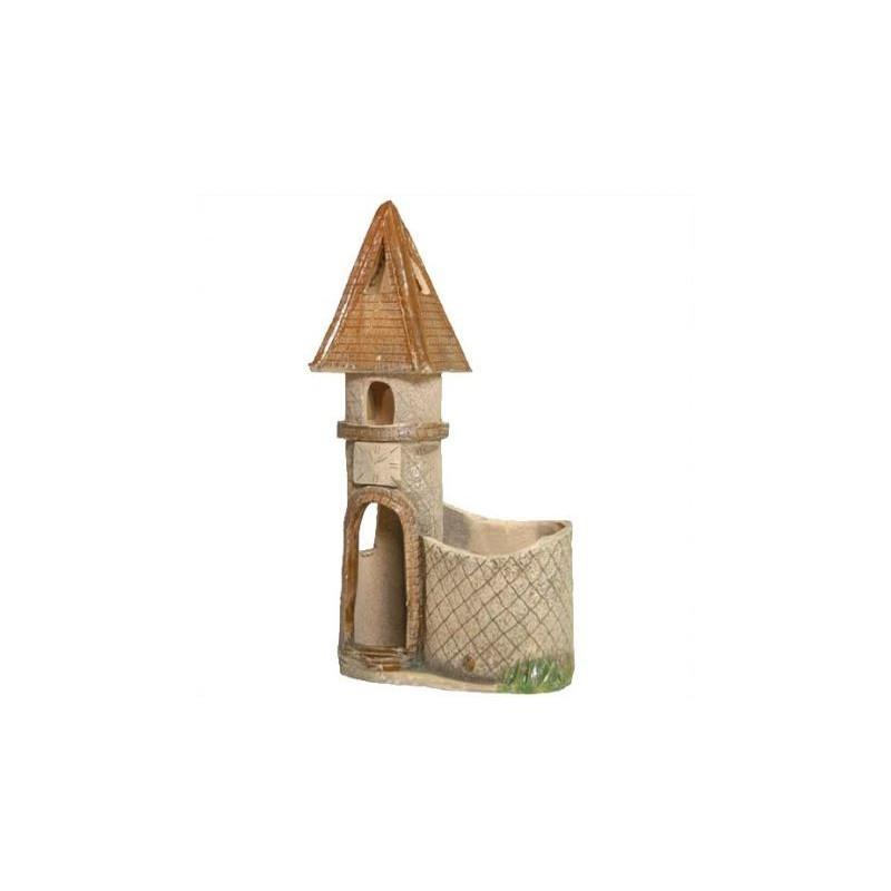 Декор для аквариумов Природа Башня с горшком