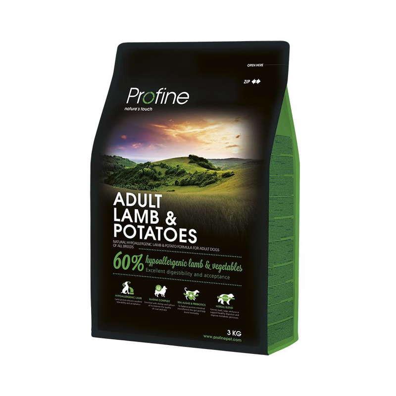 Profine (Профайн) Adult Lamb&Potatoes - Сухой гипоаллергенный корм для взрослых собак с ягненком и картофелем