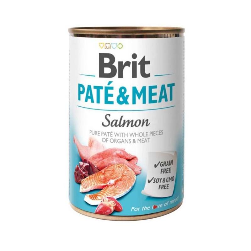 Brit (Брит) PATE & MEAT Salmon - консервы для собак с лососем