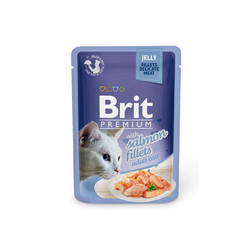 Brit Premium Brit Premium (Брит Премиум) Cat Salmon fillets Jelly - Влажный корм с кусочками из филе лосося в желе для котов