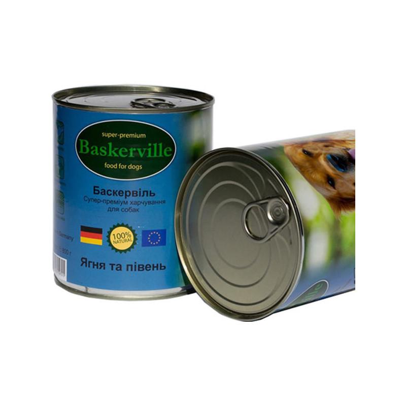 Baskerville (Баскервиль) - Консервы с ягненком и петухом для собак