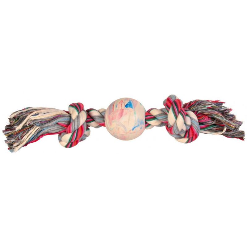 Trixie (Трикси) Веревка узловая с мячом Denta Fun (игровой канат)