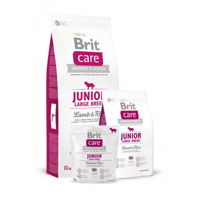 Brit Care(Брит Кеа) JUNIOR LARGE BREED Lamb&Rice для щенков крупных пород(ягненок/рис)