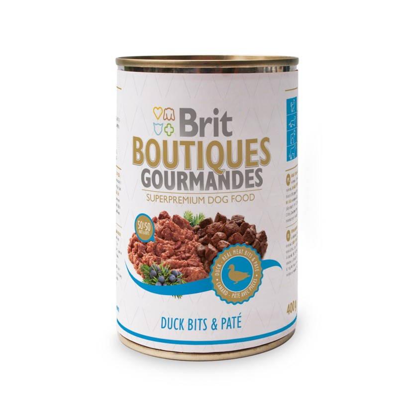Brit (Брит) Boutiques Gourmandes Кусочки утки в паштете для собак