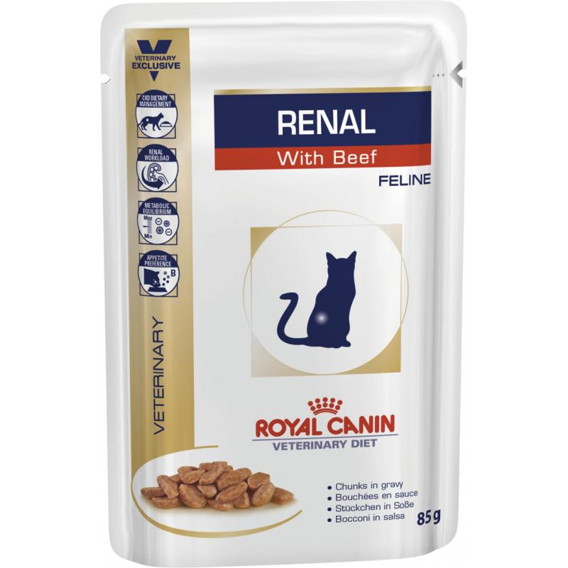 Royal Canin (Роял Канин) RENAL FELINE with BEEF - Консервированный корм с говядиной для кошек при почечной недостаточности