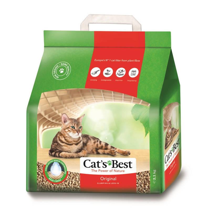 Cat's Best (Кэтс Бест) Original - Древесный хлопьевидный комкующийся наполнитель для кошачьего туалета - Фото 6
