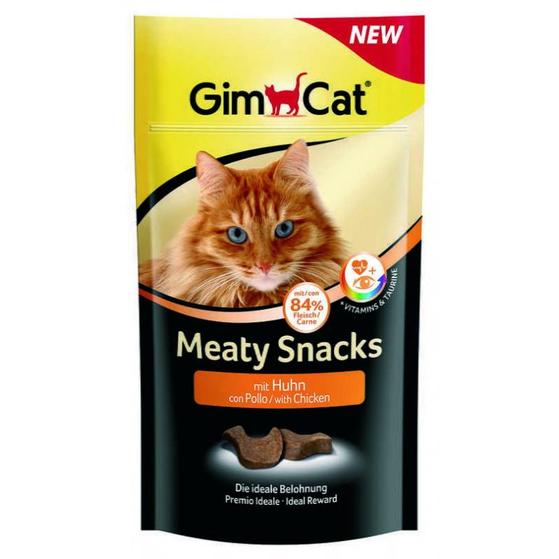 GimСat (ДжимКэт) Meaty Snacks - Лакомство с курицей и таурином для котов