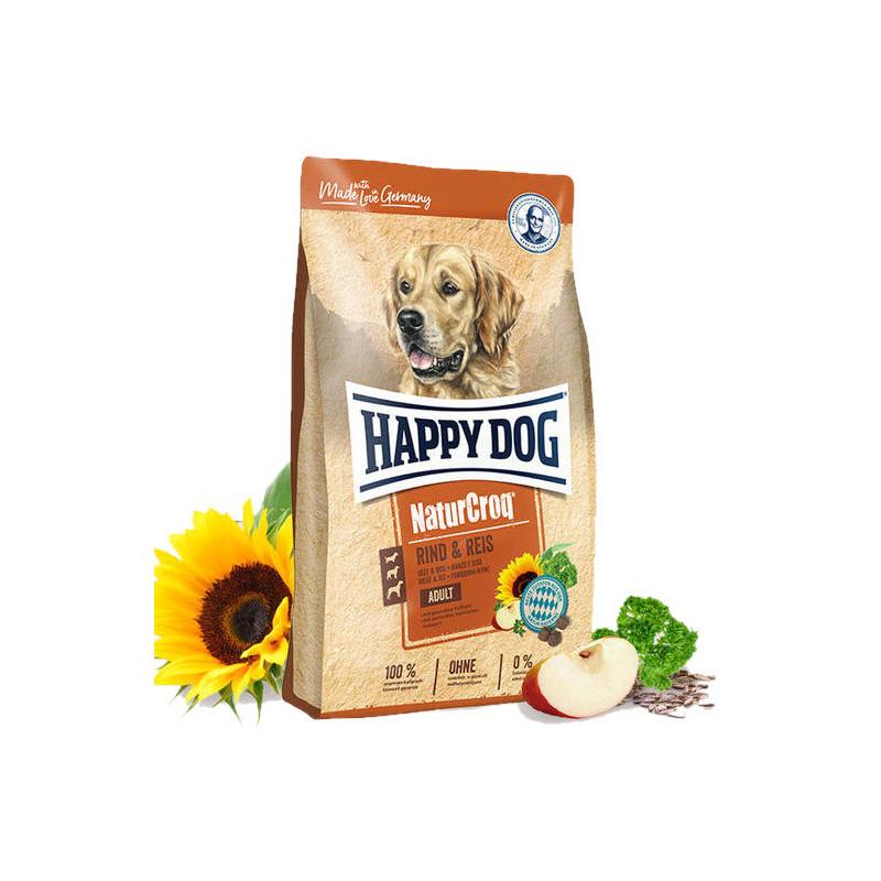 Happy Dog (Хеппи Дог) NaturCroq Rind&Reis - Сухой корм для взрослых собак с говядиной и рисом
