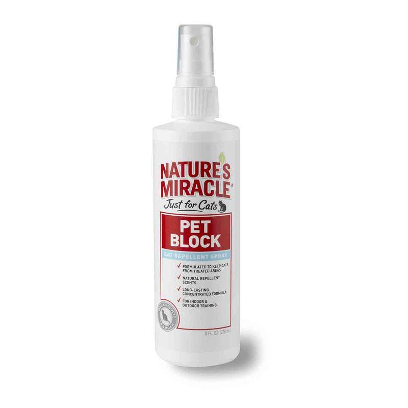 Nature's Miracle (Нейчерс Миракл) Pet Block. Спрей для кошек, отпугивающий