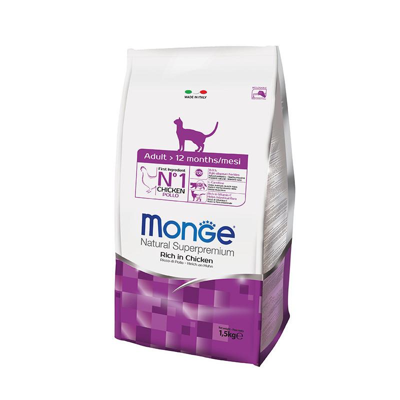 Monge (Мондже) Adult Rich in Chicken - Сухой корм с курицей для взрослых кошек возрасте от 1 года до 7 лет