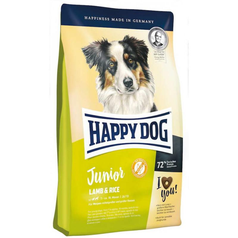 Happy Dog (Хеппи Дог) Junior Lamb & Rice - Сухой корм с ягненком для щенков средних и крупных пород с чувствительным пищеварением