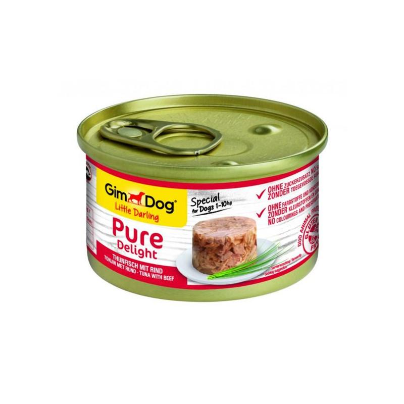 GimDog LITTLE DARLINGD Pure Delight Консервы для собак с тунцом и говядиной